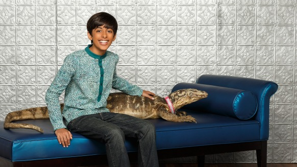 "Ravi and Mr. Kipling from the Disney Channel show ""Jessie"""